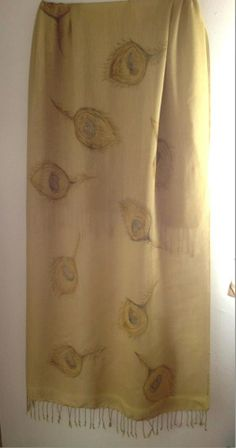 Silken Shawl by Laladiva.Hand painted.2013. http://complementoslaladiva.com/