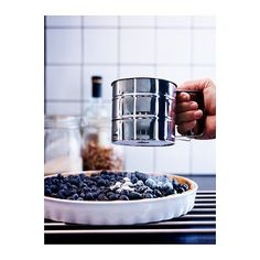 IKEA - IDEALISK, Flour sifter, stainless steel, Wash this product before using it for the first time. Recycling Facility, Stainless Steel Wire, New Gadgets, Kitchen Supplies, Christmas 2015, Holiday, Kitchenware, Dog Food Recipes, Kitchen Gadgets
