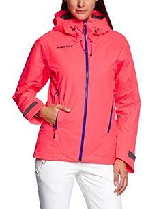Veste de ski femme crystal mountain hot coral