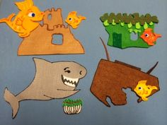 Library Village: The Three Little Fish and the Big Bad Shark by Will Grace