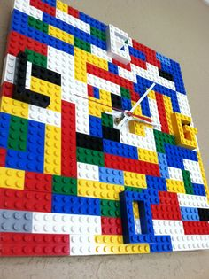 LEGO Time Wall Clock