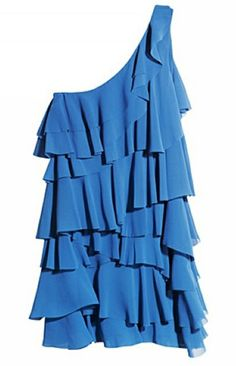 Covered in Ruffles Dress in Blue