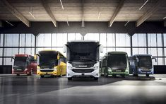 Download wallpapers Scania Buses, 4k, 2018, passenger transport, buses, Scania