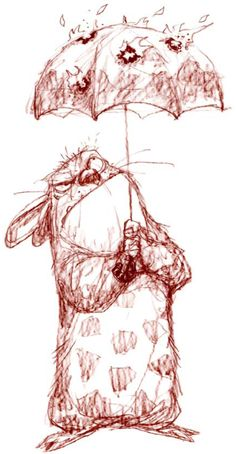 lol Peter de Seve pays tribute to Totoro in Totoro: Bad Weather hehe cool sketch!
