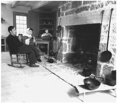 Early American Settlers 1800 | Reenactment of an early Acadian dining-room scene at the Babineau ...