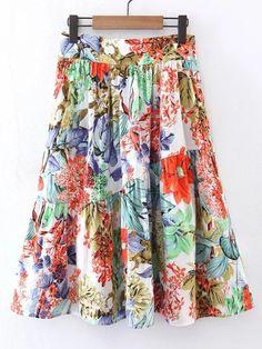 Shop Flower Print A Line Skirt online. SheIn offers Flower Print A Line Skirt & more to fit your fashionable needs. Plaid Mini Skirt, A Line Mini Skirt, A Line Skirts, Mini Skirts, Flower Skirt, Types Of Skirts, Mermaid Skirt, Skirt Fashion, Floral