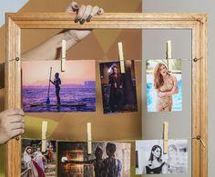 Varal de fotos pronto e suas lembranças ficarão expostas com muito estilo (Foto: Fábio Rocha/Gshow)