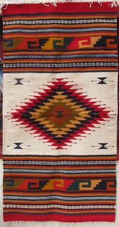 #Mexican decor: ZAPOTEC mexican rug (tapete) all hand loomed, natural dyes