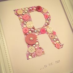 Handmade initial / letter Swarovski crystal / button frame. Easy order, see board description.