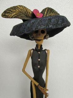 Catrina Mexican Folk Art Day of The Dead Ethnic Halloween Doll