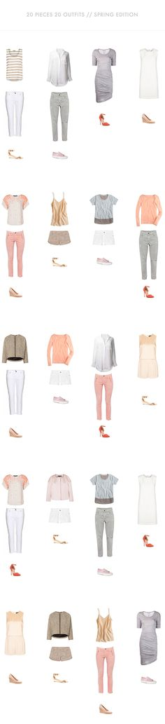 20 Outfits with 20 Pieces