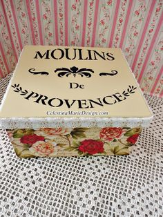 A personal favorite from my Etsy shop https://www.etsy.com/listing/219808622/moulins-de-provence-red-rose-square