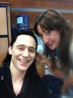 More photos of makeup artist Sophia Louise Knight working with Tom Hiddleston for Thor: The Dark World, 2012.  Via her Twitter.