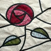Quilting: Glasgow Rose Stained Glass Template