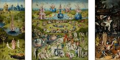 The Garden of Earthly Delights - Hieronymus Bosch, 1480-1505  Museo del Prado - Madrid (Spain), Painting - oil on panel, Height: 220 cm (86.61 in.), Width: 390 cm (153.54 in.)