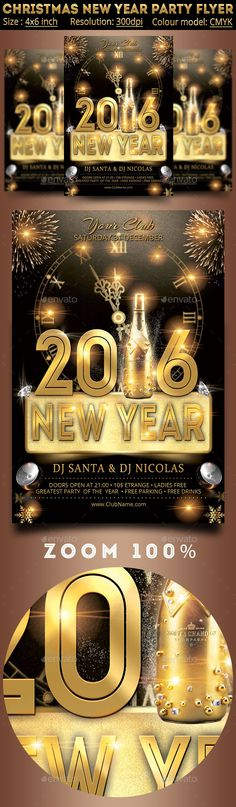 New Years Eve Flyer  Flyer Template And Party Flyer
