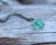 ice flake quartz . a soul mantra necklace by lizlamoreux on Etsy