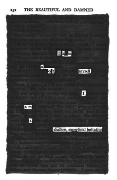 The Beautiful and Damned, Part Three | Blackout Poetry