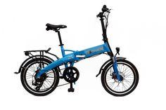 2015 e-JOE Epik Sport Edition SE Sky Blue Folding Electric Bike. BONUS: Xtreme Bright LED Bike Light.