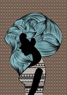Hair by Shruthi Venkataraman, via Behance