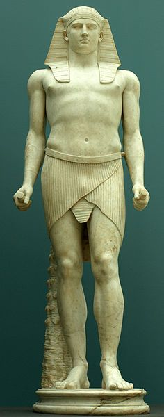 Antinous depicted as the Egyptian god Osiris,Qriginally discovered in 1738-9 in Hadrian Villa