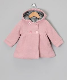 Take a look at this Pink Hooded Swing Coat - Infant & Toddler by Sweet Charlotte on #zulily today! $26.99 v. $45