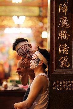 Ba-jia-jiang face painting, Taiwan