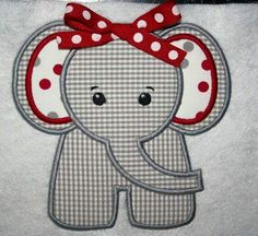 elephant quilt patterns for babies free Machine Applique, Machine Embroidery Designs, Embroidery Patterns, Quilt Patterns, Etsy Embroidery, Elephant Quilt, Elephant Applique, Baby Applique, Quilt Baby