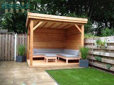 Backyard Pavilion, Backyard Seating, Outdoor Pergola, Outdoor Decor, Outdoor Furniture, Outdoor Garden Rooms, Garden Gazebo, Garden Sitting Areas, Small City Garden