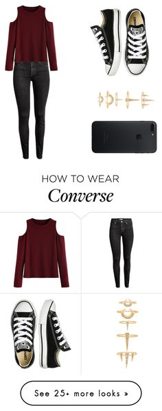 """""""Untitled #188"""" by mindongalsxy on Polyvore featuring H&M, WithChic, Converse and Luv Aj"""