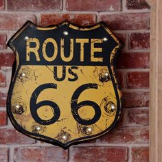 retro light up route 66 sign by lisa angel homeware and gifts | notonthehighstreet.com