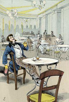 The Palmy Days of the Café de la Rotonde. In the Palais-Royal, 1868