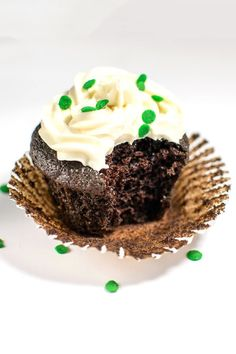 Chocolate Guinness Cupcakes with Baileys Cream Cheese Frosting!