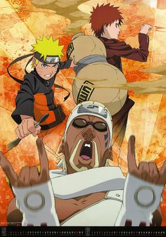Naruto Shippuden. Naruto, Gaara and Killa Bee