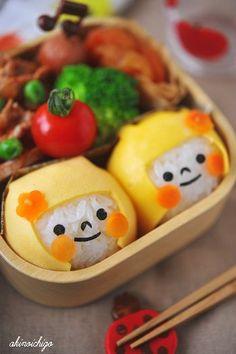 Soooooo cute! One way to make rice more interesting!