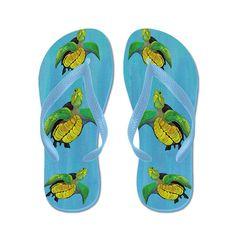 4c36bae821e89 CafePress - Sea Turtles - Flip Flops