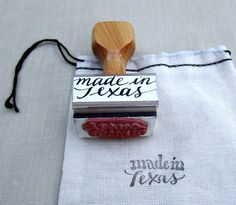 Hey, I found this really awesome Etsy listing at http://www.etsy.com/listing/176663877/made-in-texas-wood-handle-rubber-stamp