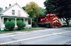 RailPictures.Net Photo: VTR 381 Vermont Railway EMD GP60 at Proctorsville, Vermont by Bill Doerrer