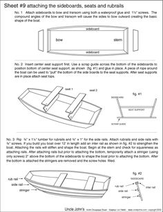 Boat Plans - wooden jon boat design - Yahoo Image Search Results - Master Boat Builder with 31 Years of Experience Finally Releases Archive Of 518 Illustrated, Step-By-Step Boat Plans Make A Boat, Build Your Own Boat, Diy Boat, Model Boat Plans, Boat Building Plans, Wooden Boat Kits, Wooden Boats, John Boats, Flat Bottom Boats