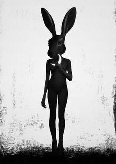 """Lepus"" Art Print by Ruben Ireland on Society6."