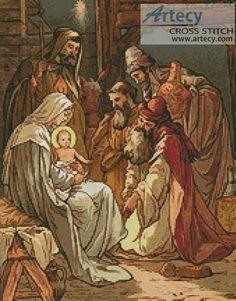 Artecy Cross Stitch. Nativity Cross Stitch Pattern to print online.