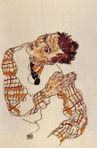 autoportrait - (Egon Schiele)