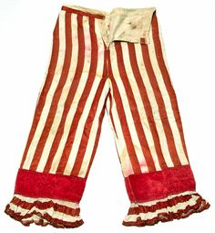 American clown and circus owner Dan Rice wore these striped pants in the 1860s. (From the Hertzberg Circus Collection of the Witte Museum, San Antonio, Texas)