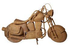 1960s art pc. lifesize Rattan Motorcycle