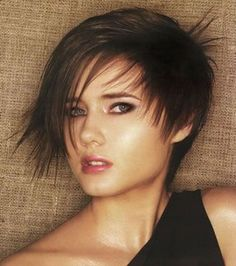 Short funky hairstyle