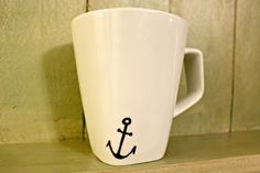 Hand Painted Mug - Anchor