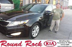 #HappyAnniversary to Rafael Narvaez Jr on your 2013 #Kia #Optima from Fidel Martinez at Round Rock Kia!