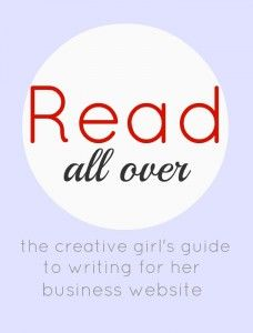 'Read All Over' is for aspiring, creative women entrepreneurs who are chasing their dream of a creative small business, and are ready to DIY their web content.