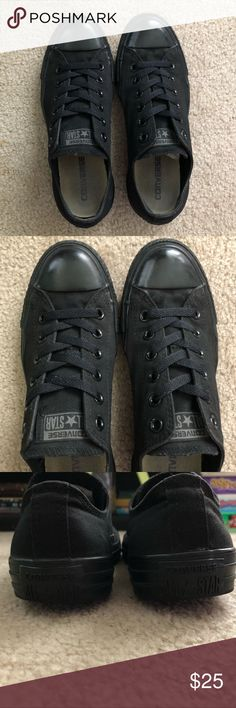 fc4f333c37983 Converse Chuck Taylor All Star Low Top Sneakers All Black Converse Worn a  few times but