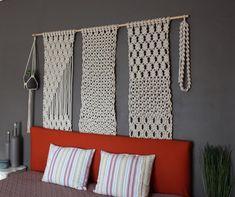 """Large macrame wall hanging """"Trio"""""""